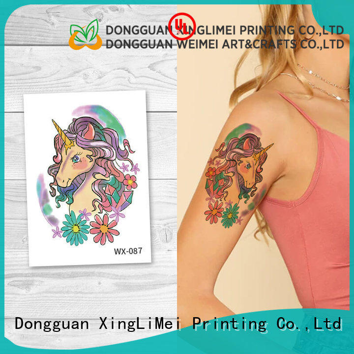 XingLiMei full color transfer tattoos for women for beauty