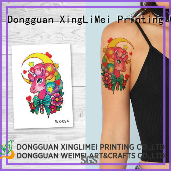 Wholesale animal transfer color temporary tattoos XingLiMei Brand