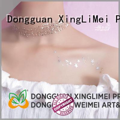 XingLiMei jewelry metallic tattoo stickers patterns for wedding