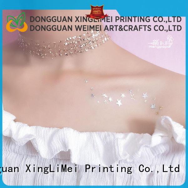 XingLiMei star metallic tattoo stickers maker for beauty