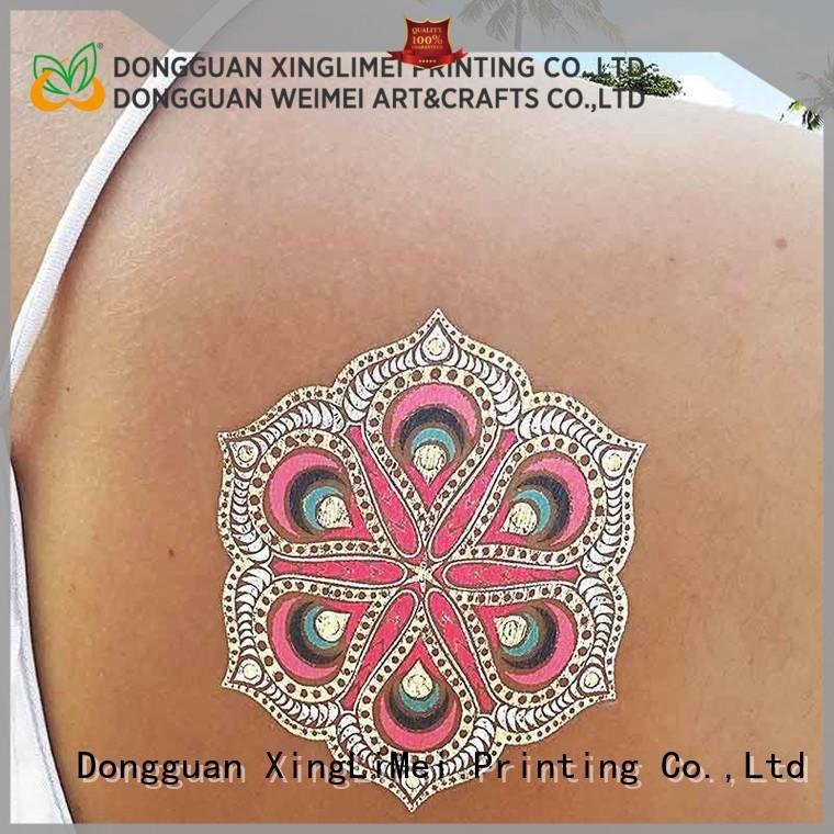 XingLiMei body metallic body tattoos maker for necklace