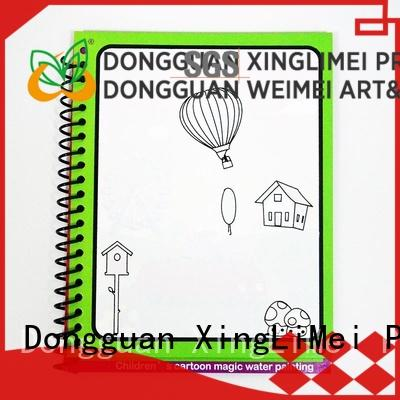 XingLiMei reusable magic water coloring book for toddlers for family