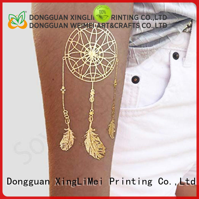 XingLiMei art metallic jewelry tattoos artist for beauty