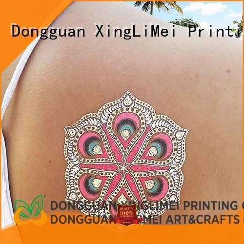 gold metallic tattoo stickers art maker for face