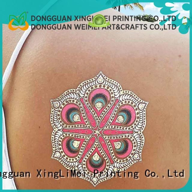XingLiMei water metallic temporary tattoos supplier for wedding