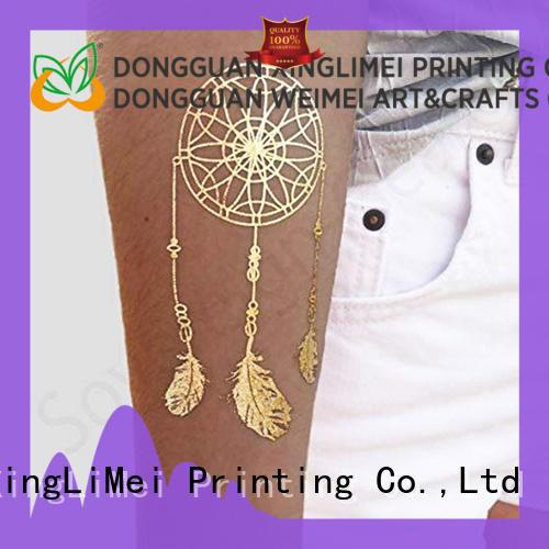 XingLiMei women metallic jewelry tattoos supply for wedding