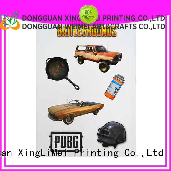XingLiMei fashionable stickers printing creator for bumper