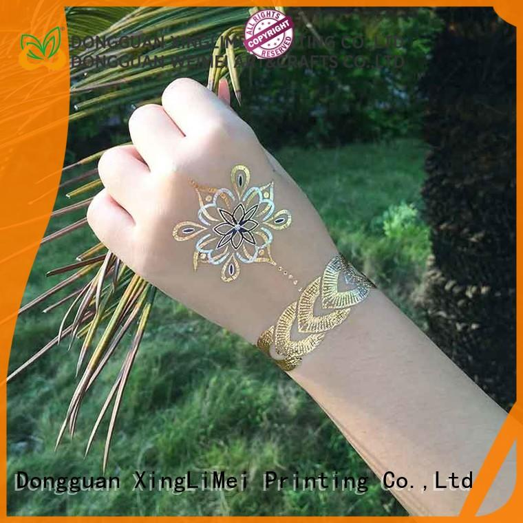 XingLiMei shimmer metallic jewelry tattoos artist for face