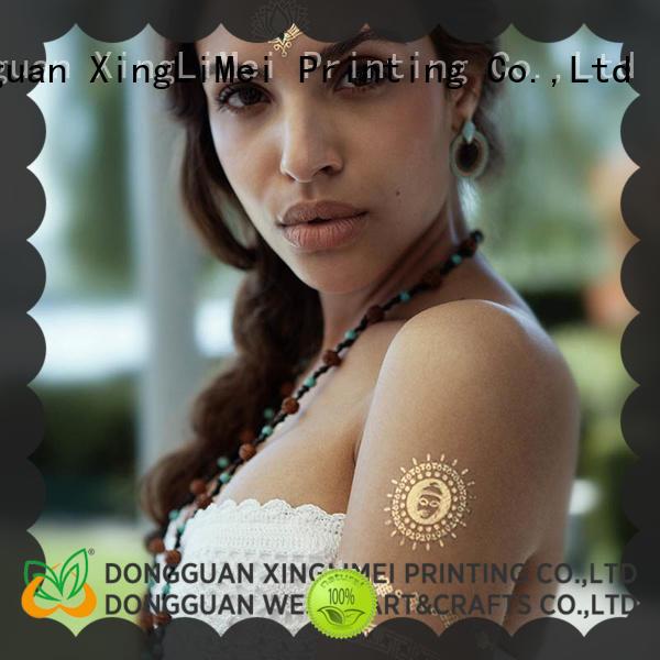 XingLiMei jewelry metallic body tattoos art for necklace