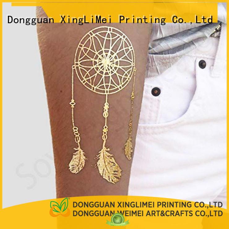 XingLiMei art metallic temporary tattoos art for make up