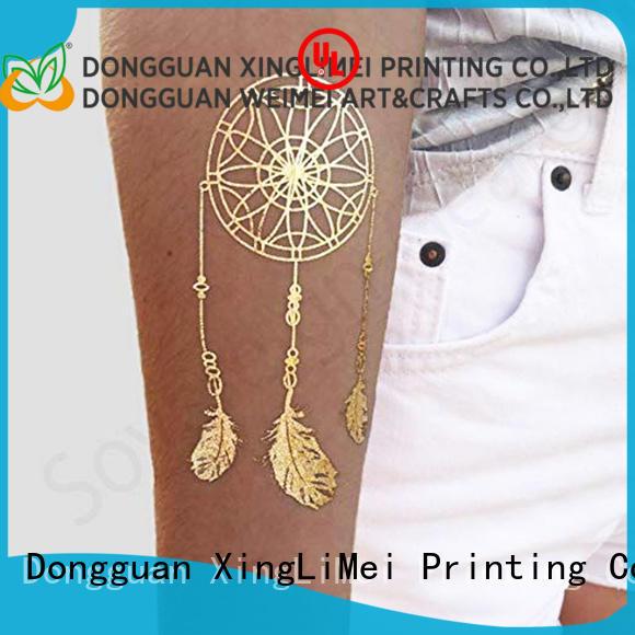 XingLiMei gold metallic jewelry tattoos art for wedding