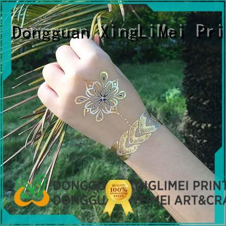 shimmer hot jewels metallic temporary tattoos patterns for make up XingLiMei