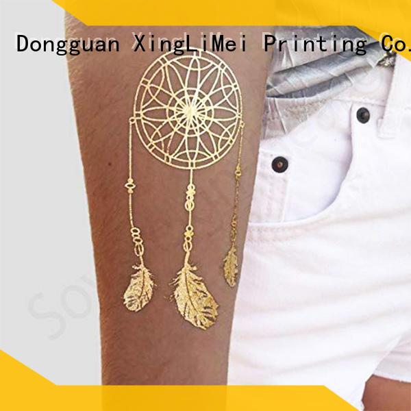 XingLiMei inspired metallic fake tattoos artist for make up