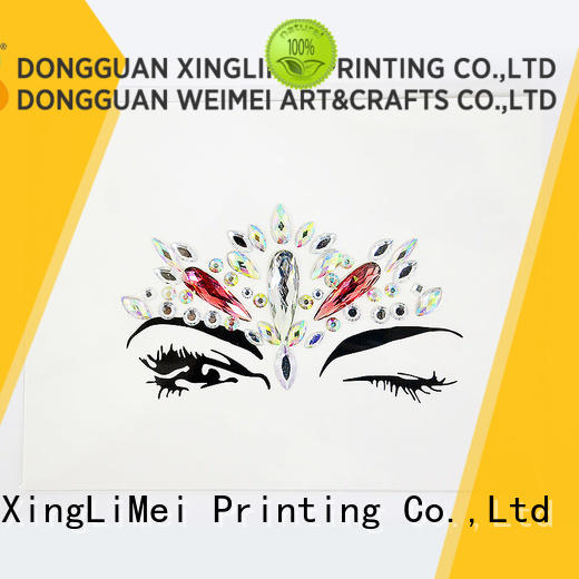XingLiMei personal 3d puffy stickers gems for Floor