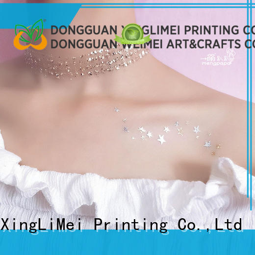 XingLiMei jewelry metallic fake tattoos supply for necklace
