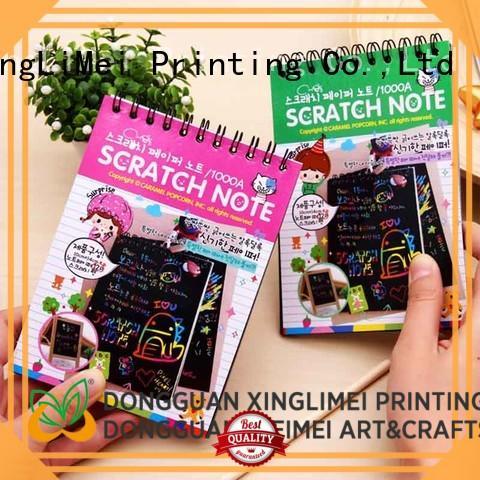 XingLiMei Art magic scratch paper on sale for handcraft