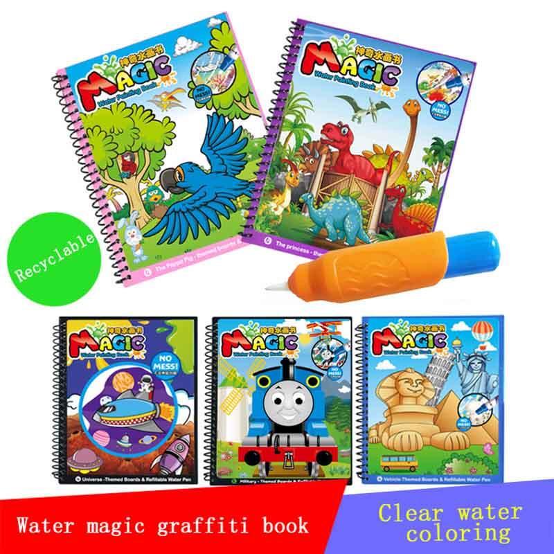 Reusable Animal Design Magic Water Painting Books