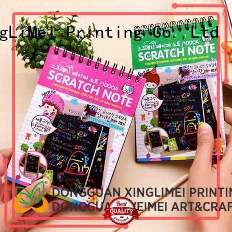 XingLiMei safe scratch art paper tutorial for family