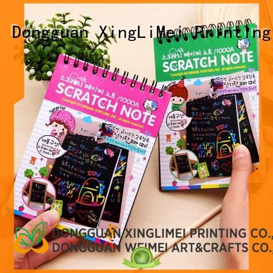 XingLiMei customized black paper scratch art safe for family