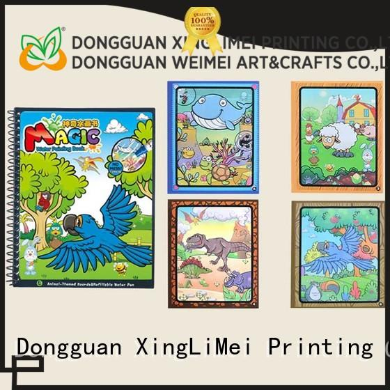 XingLiMei Reusable watercolor coloring book for kids for parent-child